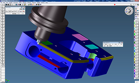GibbsCAM's Cut Part Rendering verifies toolpaths