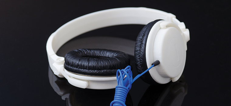 3D Systems ProJet 3600 Plastic Headphone Casing 3D printed prototype