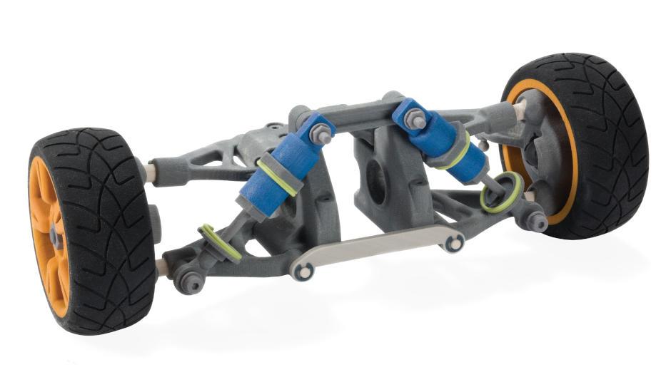 ColorJet Printing CJP Wheel Axel Prototype