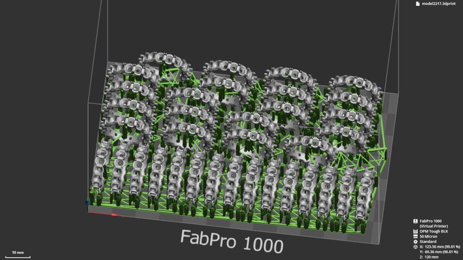 3D Sprint Part Preparation Screenshot