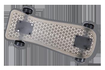 3D printed functional prototype skateboard on MJP 5600 multi-material 3D printer