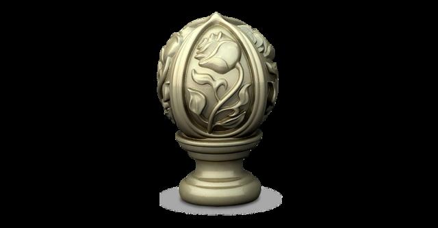 Geomagic Freeform exquisitely sculpted finial design