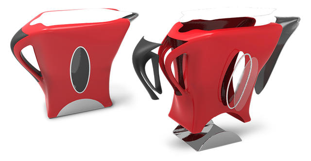 Electric Kettle design in Geomagic Freeform voxel-based scultping software