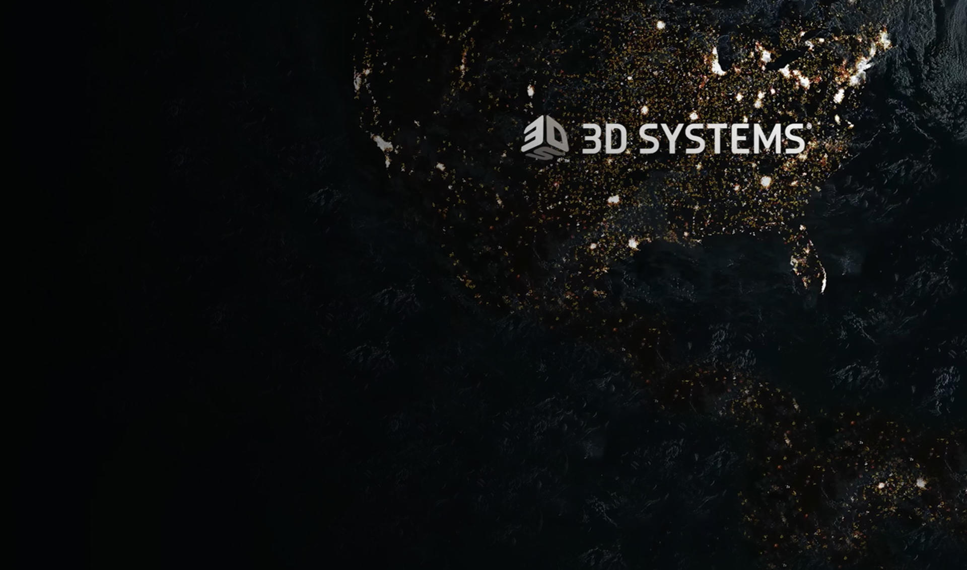 3d systems map of the world about top banner