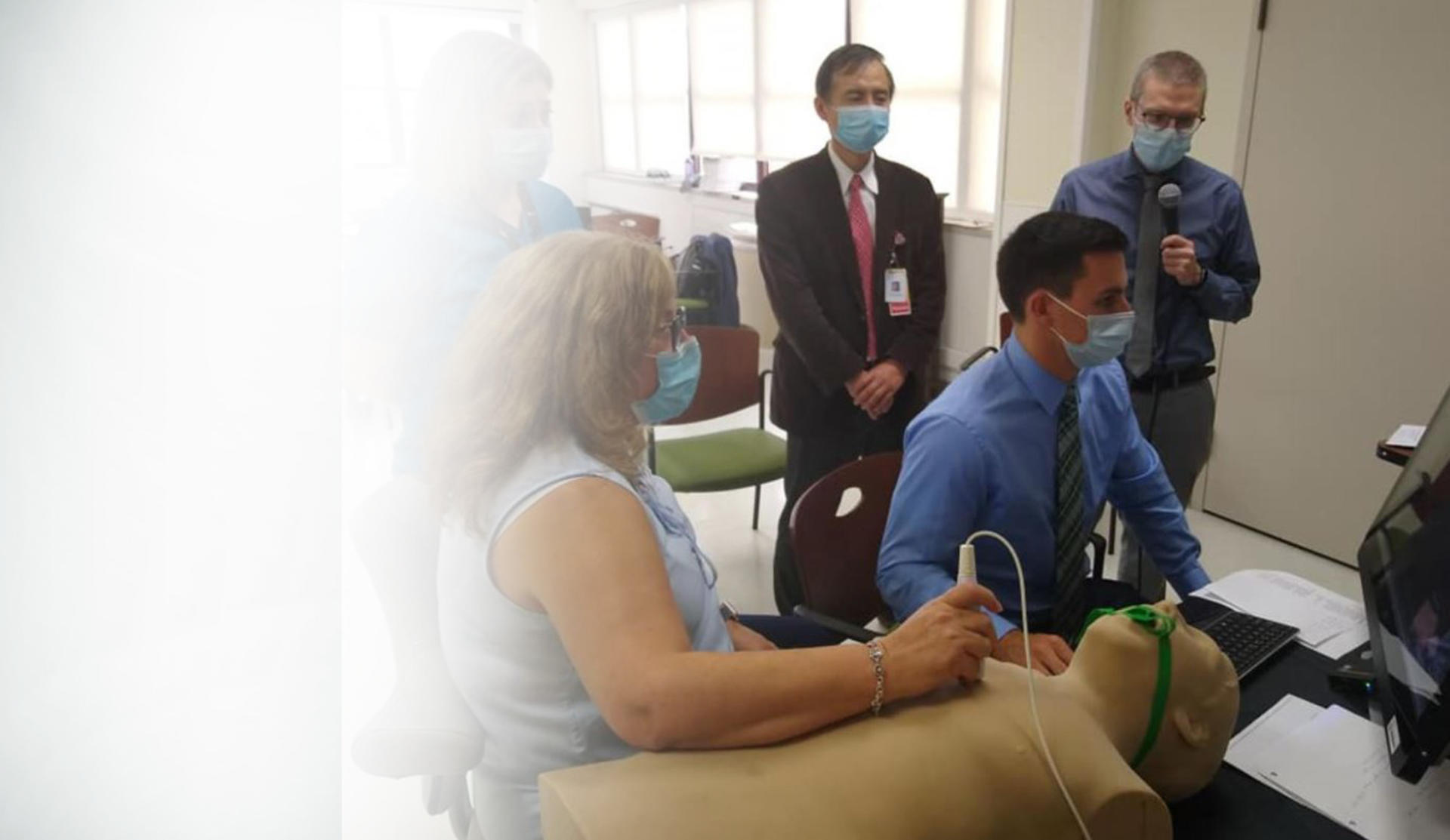 Ultrasound Mentor Training Simulator Replaces Standardized Patients at Conference
